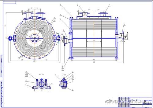 Спиральный теплообменник чертеж компас теплообменник fp 14-31-1-nh