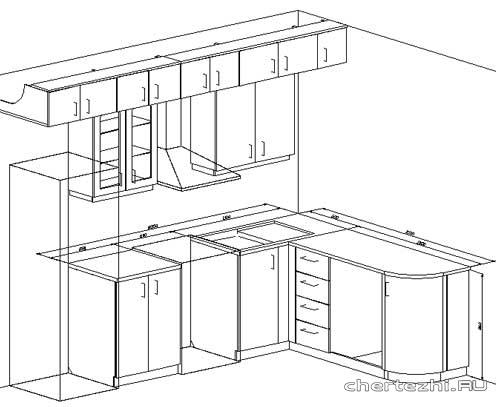 Сборка угловой кухонной полки схема
